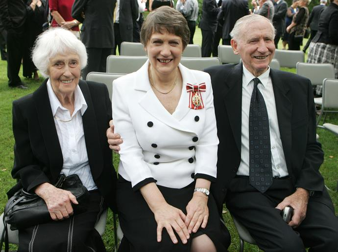 With mum Margaret and dad George after receiving the Order of New Zealand honour, 2010