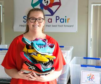 The inspirational 16-year-old whose charity work puts shoes on the feet of school children in need