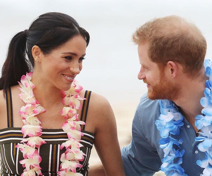 Meghan Markle and Prince Harry on Bondi Beach
