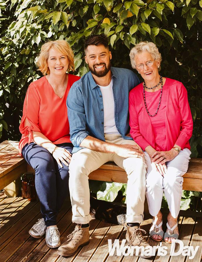 So proud! Having nearly lost Tayler as a lad, mum Annette and gran Eileen (right) believe their boy deserves only the best.