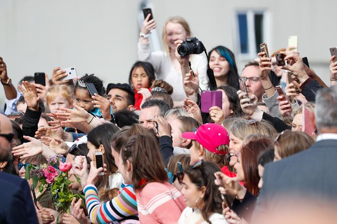 Thousands of people showed up to see Harry and Meghan.