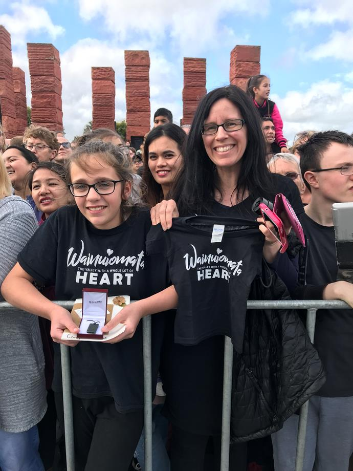 Esther and Josephine waited five hours to meet the royals!