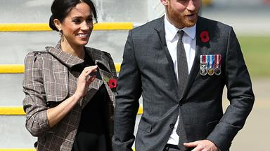 Duchess Meghan and Prince Harry meet Jacinda Ardern in Wellington on their royal tour of New Zealand