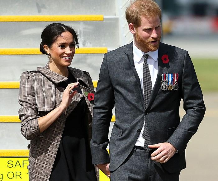 Duchess Meghan and Prince Harry meet Jacinda Ardern in Wellington on their royal tour of New Zealand