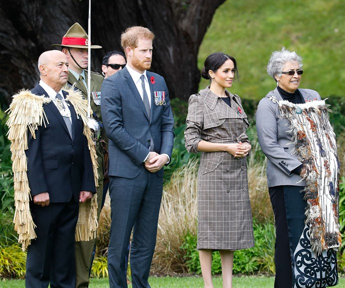Prince Harry and Duchess Meghan have a special moment with Maori elders at Government House