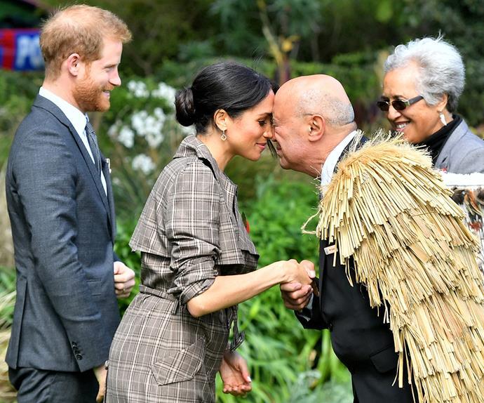 Duchess Meghan Prince Harry Hongi New Zealand