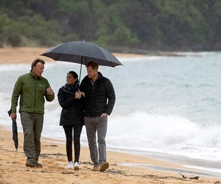 """Prince Harry adorably mentions his and Duchess Meghan's """"little bump"""" while visiting Abel Tasman National Park"""