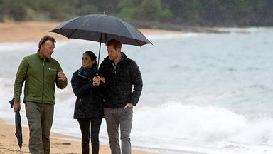 "Prince Harry adorably mentions his and Duchess Meghan's ""little bump"" while visiting Abel Tasman National Park"