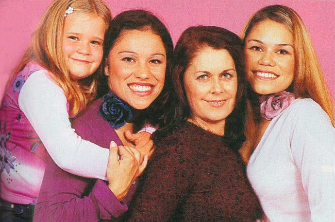 Sue appeared in *Woman's Day* with her daughters (from left) Jorgia, Stacey and Natasha Guttenbeil.