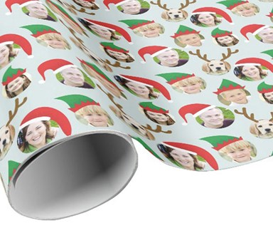 The Christmas wrapping paper you have to have this year - personalised with your face on it!