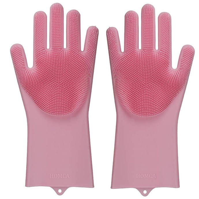 Nigella uses gloves like these to exfoliate her face.