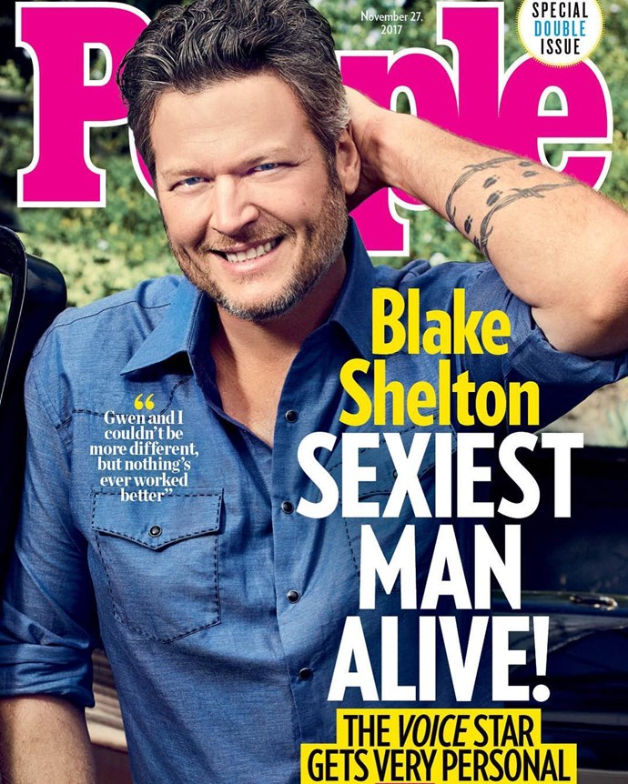 *The Voice* coach and musician Blake Shelton was controversially named last year's Sexiest Man Alive.