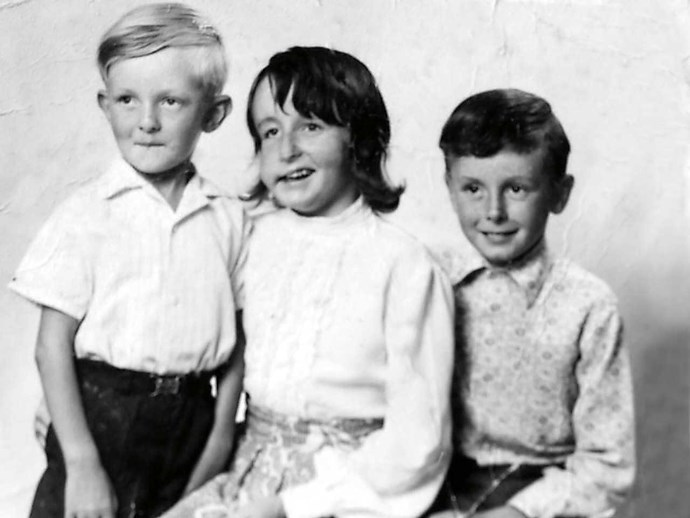Christine, aged 12, with brothers Tony, L, and Alan. Tony died of NF complications at 23.