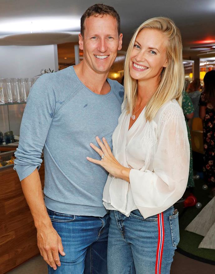 Brendan and wife Zoe Hobbs.