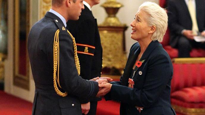 Emma Thompson just asked to kiss Prince William and his response is everything