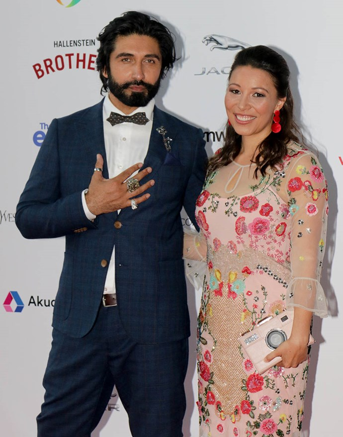 "Colin Mathura Jeffree and Melissa Davies made an unlikely pairing on the red carpet. Colin wore a bespoke suit with Nick Von K jewels. Of getting ready for the awards, he boasted, ""It only takes me 15 seconds. I'm a model!"""