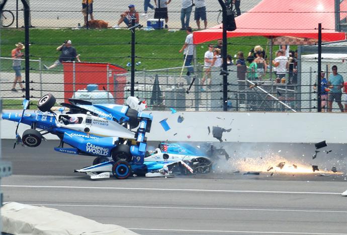 Scott had an incredibly close call in this 2017 crash at Pocono.