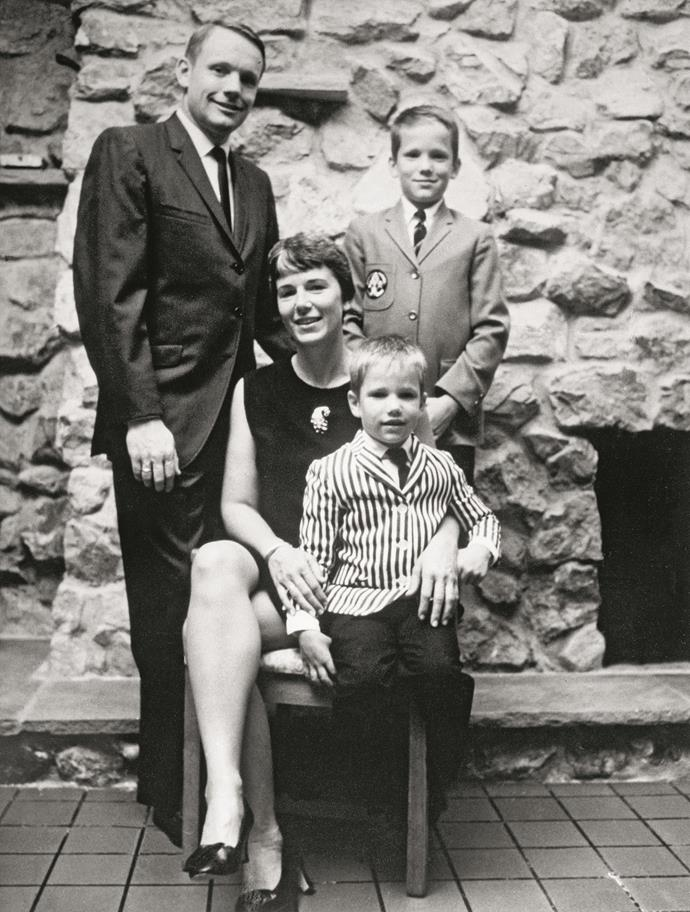 Neil and Janet Armstrong with their two sons