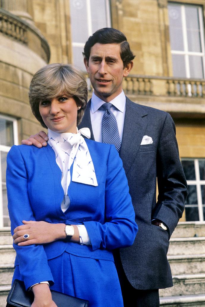 **February 24, 1981**  Charles' engagement to Lady Diana Spencer, who is 12 years younger, is announced. They met only 13 times before becoming engaged.