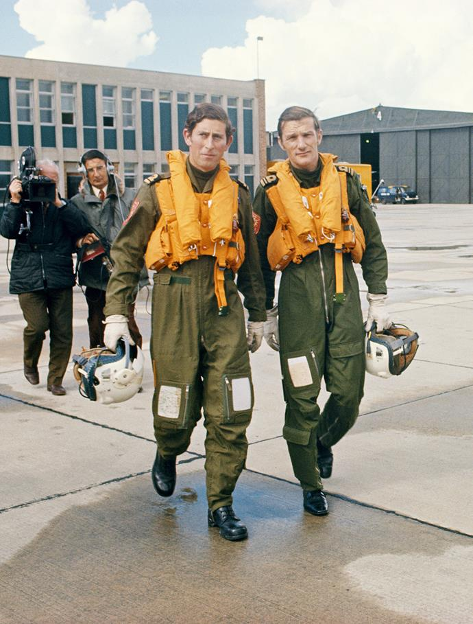 **1971 to 1976**  Charles serves in both the Royal Navy and the Royal Air Force.