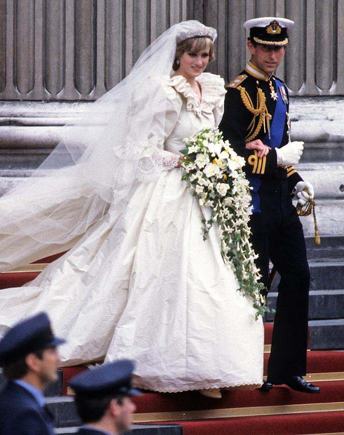 **July 29, 1981**  Charles and Diana are married at St Paul's Cathedral in a televised ceremony watched by nearly one billion people in 74 countries.