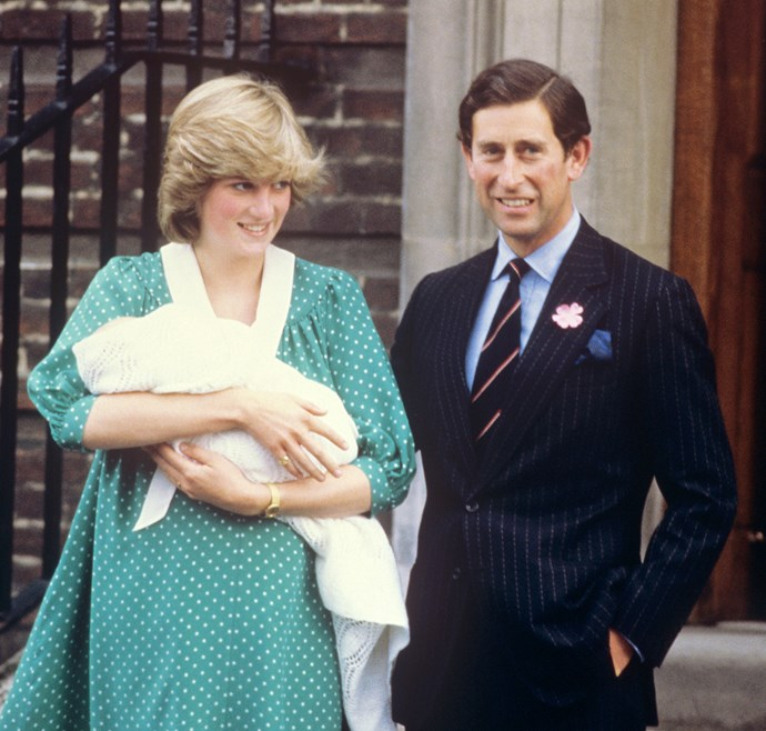 **June 21, 1982**  Charles becomes a dad when his first son, Prince William, is born.