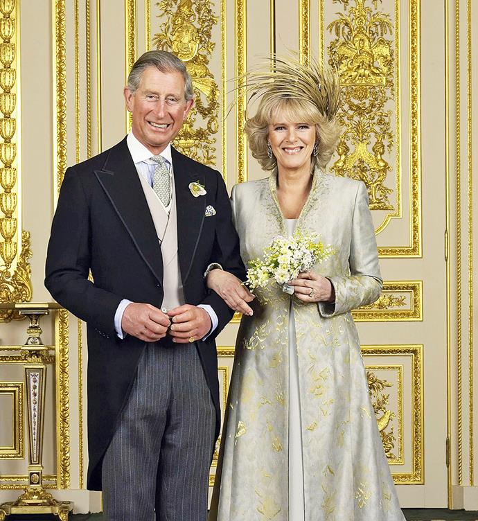 **April 9, 2005**  Charles and Camilla marry in a civil ceremony at Windsor Guildhall, followed by a blessing service  at St George's Chapel in Windsor Castle.