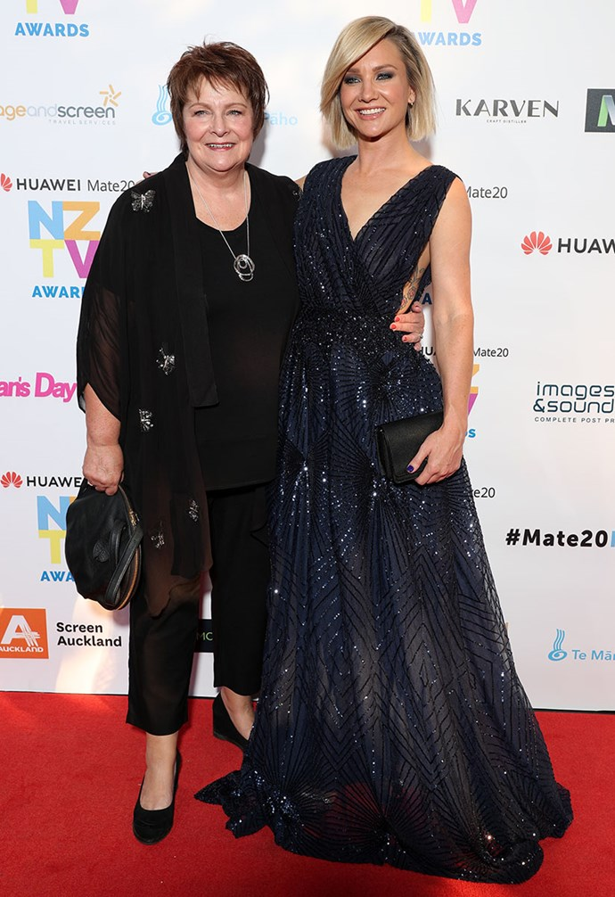 Hayley Holt brought her mum Robyn along as a date.