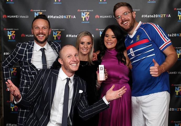 The *Jono & Ben * crew celebrate winning Best Comedy/Comedy Entertainment Programme.