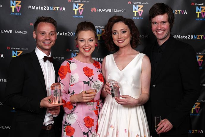 "The *Westside* crew took out Best Drama, and Antonia Prebble (with [fiancé Dan Musgrove](https://www.nowtolove.co.nz/celebrity/celeb-news/antonia-prebble-and-dan-musgrove-engaged-38471|target=""_blank"") by her side) walked away with the coveted Best Actress gong."