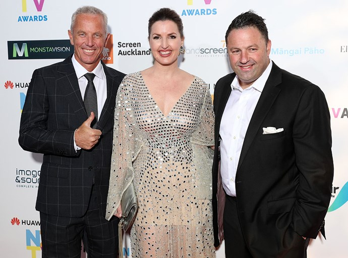 The AM Show's Mark Richardson, Amanda Gillies and Duncan Garner.