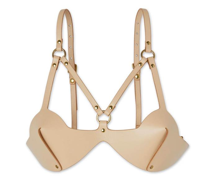 """What good are a 'sexy' pair of knickers without a bra to match, right? Well, feast your eyes on the Nude Web Bra. Looks like it would be just about as comfortable as the g-string it comes with. There's a fair amount of engineering going on in this piece, which is strange considering it's slightly cheaper than the G - an extremely affordable [$457 NZD.](https://shop.goop.com/shop/products/nude-web-bra?taxon_id=2392