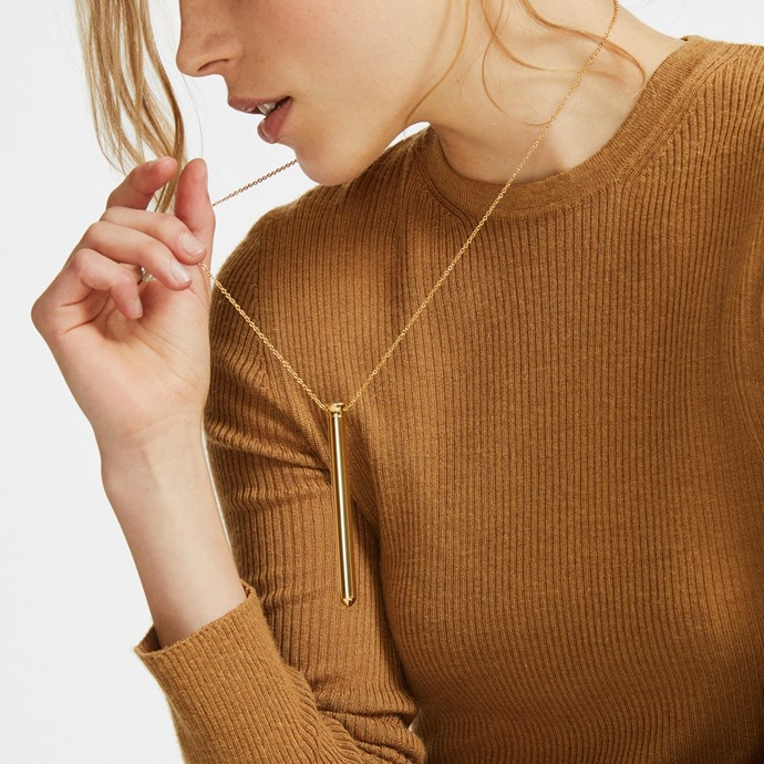 "Everybody needs a portable vibrator, right? And one that can be worn as jewellery? Perfect! Until your colleagues see this gift guide and work out why you always keep coming back from lunch with a smile on your face. [$219 NZD.](https://shop.goop.com/shop/products/vesper-vibrator-necklace?taxon_id=2392|target=""_blank"")"