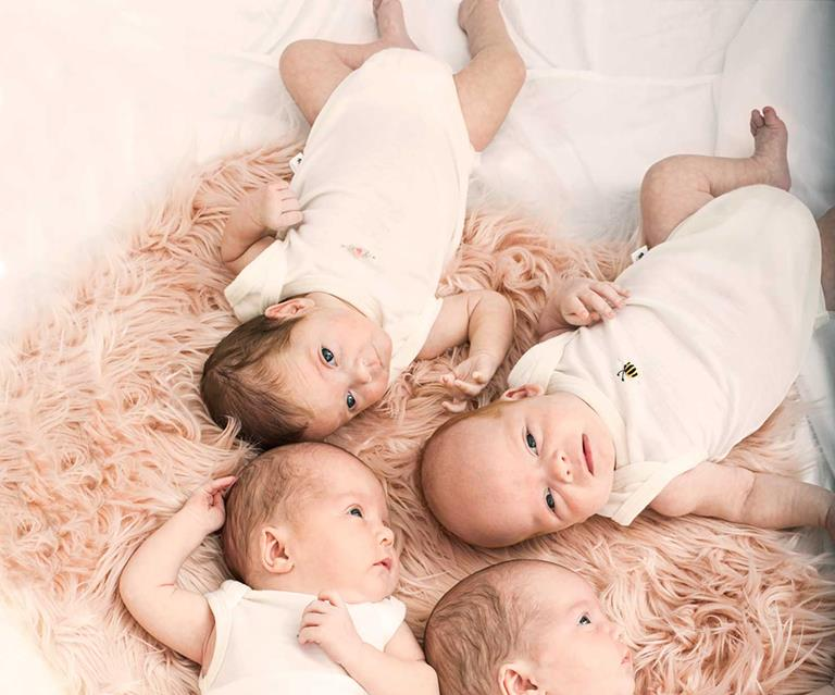 Meet the MacDonald quadruplets: the first set of quads to be born in
