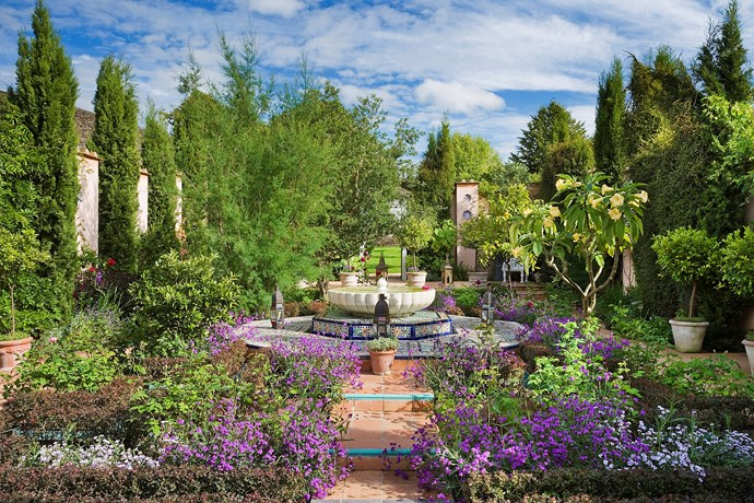 Prince Charles designed the Islamic Carpet Garden for the 2001 Chelsea Flower Show and won a Silver-Gilt medal. The garden was then transported to Highgrove.