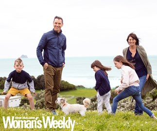 Fair Go host Hadyn Jones with family