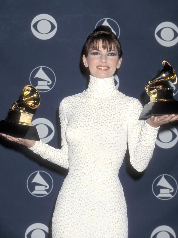Shania Twain in her heyday at the 1999 Grammy Awards