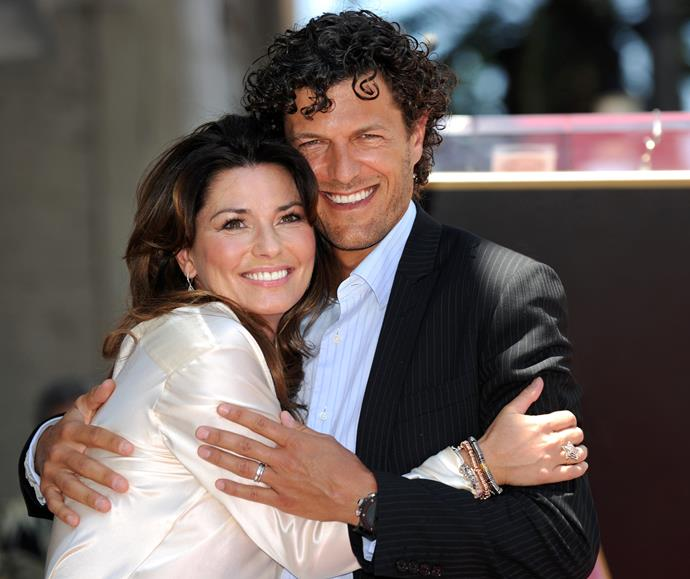 Shania with her new husband Frederic Thiebaud