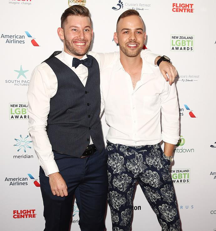 Aaron Chisolm from the first season of *MAFS* NZ and Samuel Levi from the second season. *Photo: Getty Images*