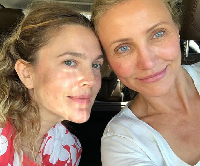 "Cameron Diaz and Drew Barrymore look absolutely stunning in this make-up-free selfie. Image via @drewbarrymore Instagram. Read more about Drew's thoughts on going make-up-free [here](http://www.nowtolove.co.nz/health/body/drew-barrymore-and-cameron-diaz-shared-a-gorgeous-make-up-free-selfie-38487|target=""_blank"")."