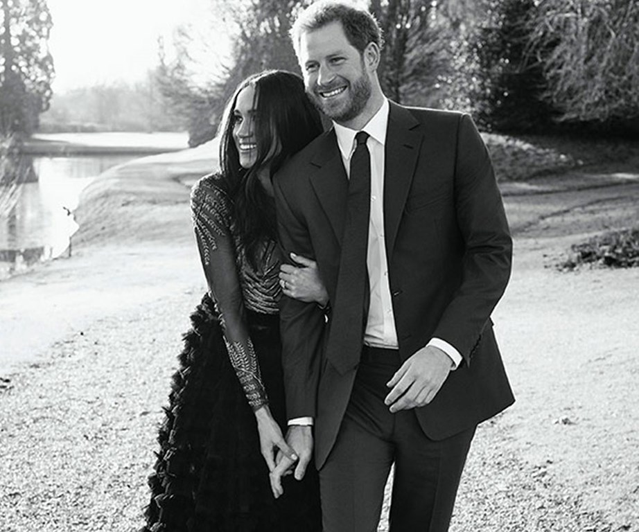 Meghan and Harry's engagement photos were taken in the grounds of Frogmore Cottage.