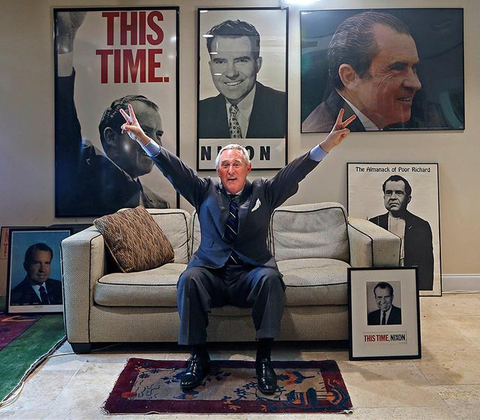 Stone is an avid supporter of Richard Nixon.
