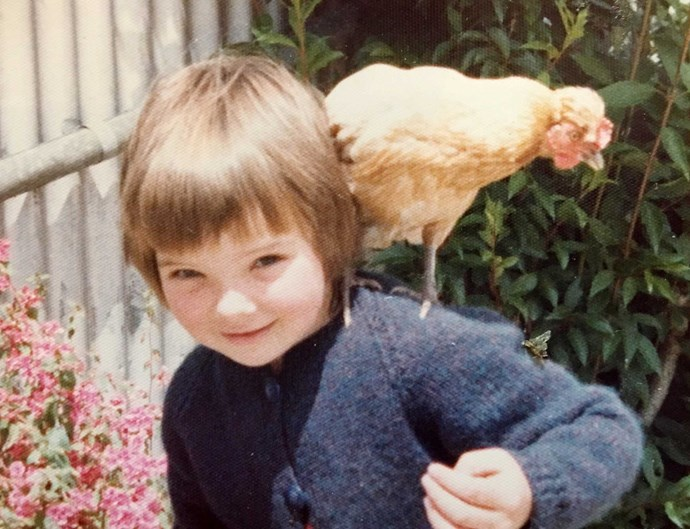 Hen-pecked as a five-year-old by bantam Henny Penny!
