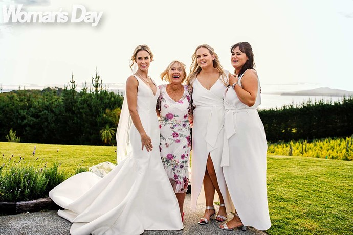 Anna with (from left) mum Sharon, sister Miki and cousin Jaime. *Photo: Leila Ann photography*