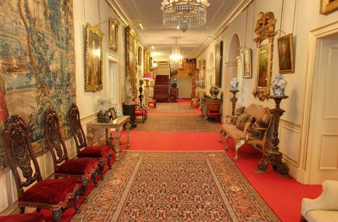 **Entrance Hall.**  Visitors to Clarence house are first greeted by the stunning entrance hall.