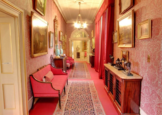 The Horse Corridor pays tribute to The Queen Mother's love of horses. The corridor leads through to  The Garden Room.