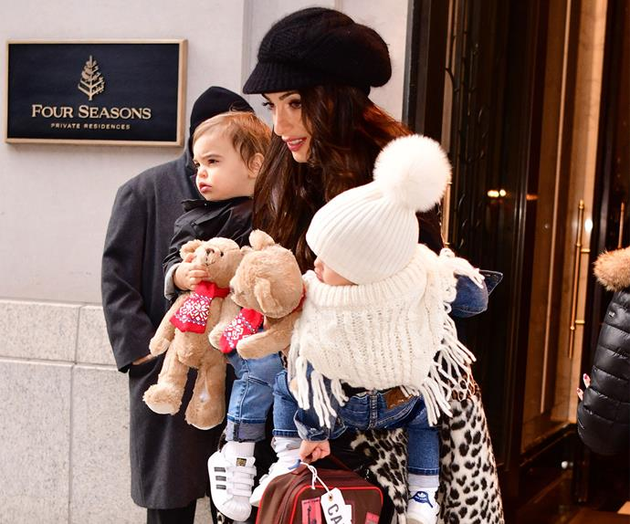 Amal Clooney Steps Out With Twins Ella And Alexander, And
