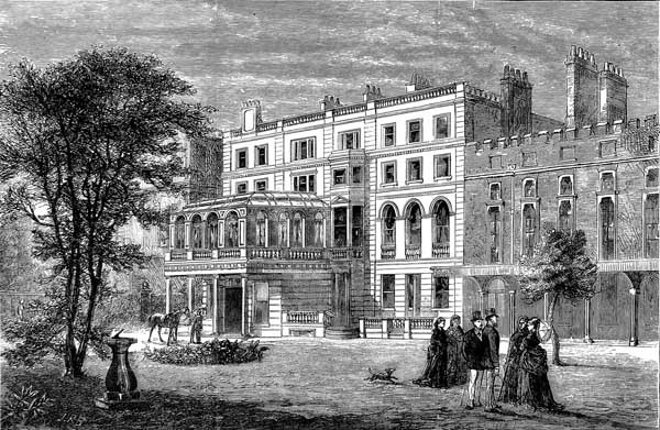 An 1874 drawing of Clarence House.
