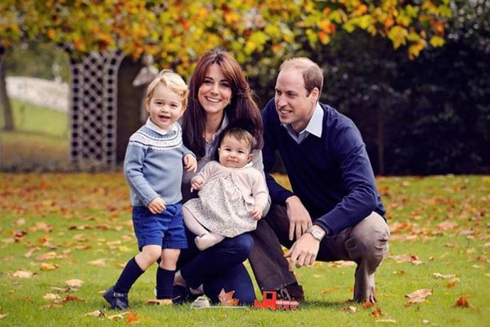 The Duke and Duchess of Cambridge released this stunning photo of themselves and Prince George and Prince Charlotte in 2015.