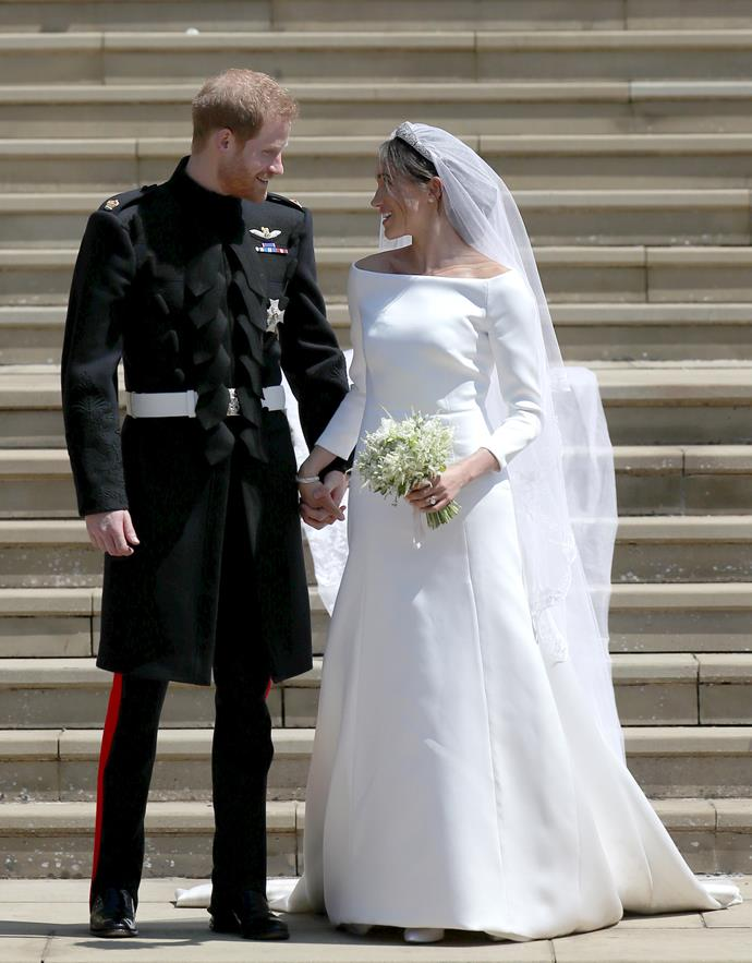 Prince Harry and Meghan, Duchess of Sussex, on their wedding day.